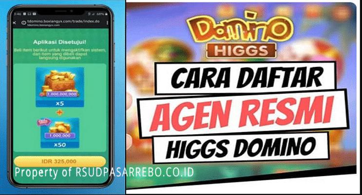 cara daftar mitra higgs domino island